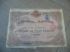 Alcazar De Marseille  100 F - 1914 - Remboursé 1922 - Casino