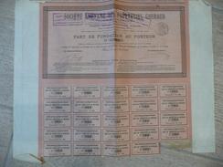 Nantes- Chantenay Société Des Papeteries GOURAUD Part De Fondateur 783/1000 1895 - Industry