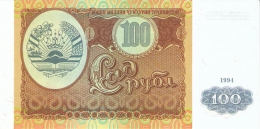 TADJIKISTAN   100 Rubles   1994   P. 6a   UNC - Tadjikistan
