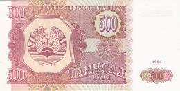 TADJIKISTAN   500 Rubles   1994   P. 8a   UNC - Tadjikistan