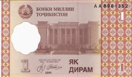 TADJIKISTAN   1 Diram   1999 (2000)   P. 10a   UNC - Tadjikistan