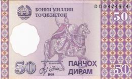 TADJIKISTAN   50 Diram   1999 (2000)   P. 13a   UNC - Tadjikistan