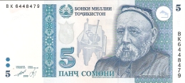 TADJIKISTAN   5 Somoni   1999 (2000)   P. 15c   UNC - Tadjikistan