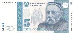 TADJIKISTAN   5 Somoni   1999 (2000)   P. 15c   UNC - Tajikistan