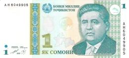 TADJIKISTAN   1 Somoni   1999 (2000)   P. 14a   UNC - Tadjikistan