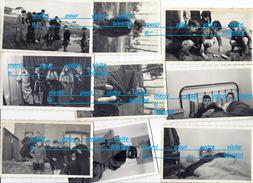 9 Photos 50 MANCHE ? Sortie école élèves Dortoir , Bords De Mer Villa Habitations , Bateaux Jouets ,  Avec René Boureau - Photographs