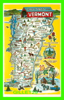 MAP - GREETINGS FROM  VERMONT - PHOTO BY FRANK L. FORWARD - - Maps