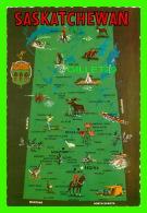 MAP - CARTE GÉOGRAPHIQUE - SASKATCHEWAN - COLOR PRODUCTIONS LTD - - Cartes Géographiques