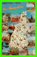 MAPS - CARTE GÉOGRAPHIQUE - GREETINGS FROM  NEW HAMPSHIRE - DEXTER PRESS INC - - Maps