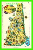 MAP - CARTE GÉOGRAPHIQUE - PICTORIAL MAP OF SCENIC NEW HAMPSHIRE -  ROBERT E. YOUNG - - Cartes Géographiques