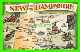 MAP - CARTE GÉOGRAPHIQUE -NEW HAMPSHIRE THE GRANITE STATE - BROMLEY & COMPANY INC - - Cartes Géographiques