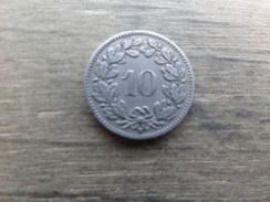 Suisse  10  Rappen  1919 B  Km 27 - Suiza
