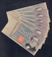 1000 Lire Verdi II° Tipo 20 02 1980 Sup 6 Consecutivi Da Mazzetta Ma Non Perfetti   LOTTO 1679 - [ 2] 1946-… : République