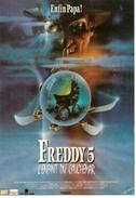 CPM FREDDY 5 L'enfant Du Cauchemar USA 1990 Ref 141 - Affiches Sur Carte