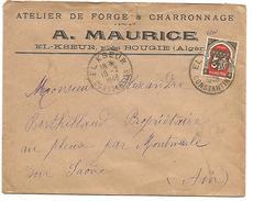 ALGERIE BELLE LETTRE A EN TETE DE EL KSEUR POUR LA FRANCE DU 18/2/1948 - Covers & Documents