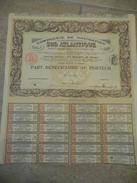 Compagnie De Navigation SUD ATLANTIQUE 1914 Part Au Porteur Avec Coupons Annulée - Navigation
