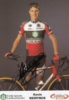 5932 CP Cyclisme  Kevin Neirynck   Dédicacée - Cyclisme
