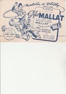 "BUVARD "" STYLOS MALLAT -BUVARD OFFERT AUX LECTEURS DE TINTIN . - Stationeries (flat Articles)"