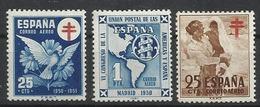 Espagne PA N° 247 à 249 Neufs De 1950/51 POSTE AERIENNE - Nuovi