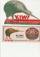 "BUVARD "" 2 BUVARDS KIWI  CIRAGE DE LUXE - Wash & Clean"