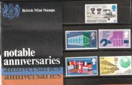 Great Britain  1969 Notable Anniversaries, Plane, Europa Cept, Nato, First Flight, Mi  511-515, MNH(**)