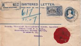 Inde Entier Postal Recommandé Pour L'Allemagne 1935 - 1911-35 Roi Georges V