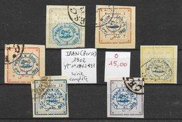 Iran (Perse) N°186 à 191 1902 O - Iran