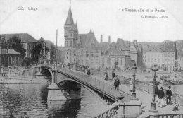 B34079 Liège - La Passerelle Et La Poste - Belgique