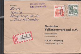 3123   Carta Certificada Muhlacker 1981 Alemania - Covers & Documents