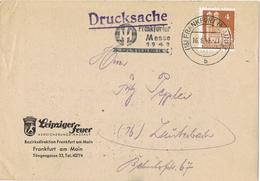 23714. Tarjeta Privada FRANFURT (Alemania Zona Anglo Americana) 1949 - Zona Anglo-Américan