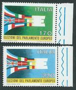 Italia 1979; Elezioni Del Parlamento Europeo. Serie Completa Di Bordo Destro. - 6. 1946-.. Repubblica