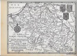 Carte Géographique Du Pays Basque Par M Haulon 1943 - Geographical Maps