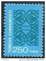 1977 TURKEY OFFICIAL STAMP MNH ** - 1921-... République