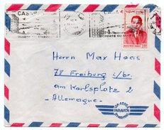 Maroc--1965--lettre De CASABLANCA Ppal Pour FRIBOURG (Allemagne) ---timbre Seul Sur Lettre--cachet - Maroc (1956-...)