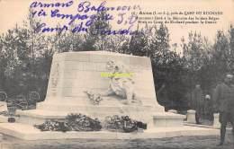 CPA 37 CAMP DU RUCHARD AVON PRES DU MONUMENT ELEVE A LA MEMOIRE DES SOLDATS BELGES - France