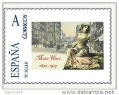 Spain 2015 - Celebrities Of The History - Mata Hari Mnh Tu Sello - Célébrités