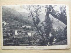 ITALIA LIGURIA CARTOLINA DA DAVAGNA VIA COLLETTA GENOVA FORMATO PICCOLO SCRITTA MA NON  VIAGGIATA - Genova