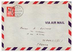 Japon--1972--lettre De TOKYO  Pour Paris (France) --- Timbre Seul Sur Lettre--cachet - 1926-89 Empereur Hirohito (Ere Showa)