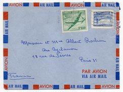 Chili ---lettre De SANTIAGO  Pour Paris (France) --- Timbres Sur Lettre-- - Chili