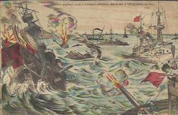 CPA Illustrée - La Flotte Anglaise Coule 2 Croiseurs Allmands Dans La Baie D'Héligoland (28 Août). - Guerre 1914-18
