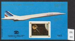 Equatorial Guinea Space Concorde M/s With Straight Line U.I.T. (ITU) Overprint MNH. Lollini C10B - Concorde