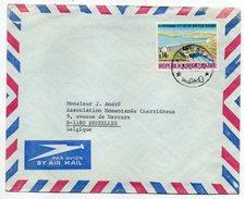 Congo-Kinshasa--1973-lettre De Kinshasa Pour Bruxelles (Belgique) -- Timbre Seul Sur Lettre - Cachet - Autres