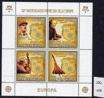 Sao Tome St. Thomas & Prince 2006 Europa, De Gaulle, Mozart, Pope Jean Paul II, Concorde Perf Sheetlet/4 MNH - Concorde