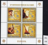 Sao Tome St. Thomas & Prince 2006 Europa, De Gaulle, Mozart, Pope Jean Paul II, Concorde Perf Sheetlet/4 MNH