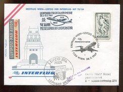Flugpost / 1969 / Lupo-Bf. Ex Wien Nach Leipzig, Messesonderflugverkehr (0273) - Airplanes