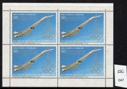 Sao Tome St. Thomas & Prince 1981 Concorde  Sheetlet/4 With Moscow Olympics Jeux Olympiques Opt. MNH. Perf.