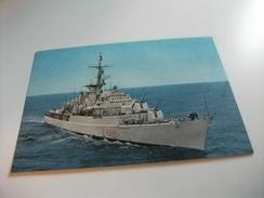 NAVE SHIP SCHIFF BATEAU  GUERRA FREGATA PORTAELICOTTERI ALPINO  F 580 - Guerra