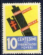 Erinnofili, Italia, 1934, Depero, Campagna Antitubercolosi - Unclassified