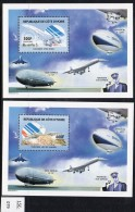 Ivory Coast Cote D'Ivoire 2005 Concorde And Zeppelin : TWO Concorde Deluxe M/s Perf MNH