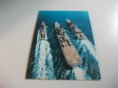 NAVE SHIP SCHIFF BATEAU GUERRA FORMAZIONE NAVALE IN NAVIGAZIOPNE LUPO 564 VITTORIO VENETO 550  ANNULLO 9° RADUNO MARINAI - Guerra